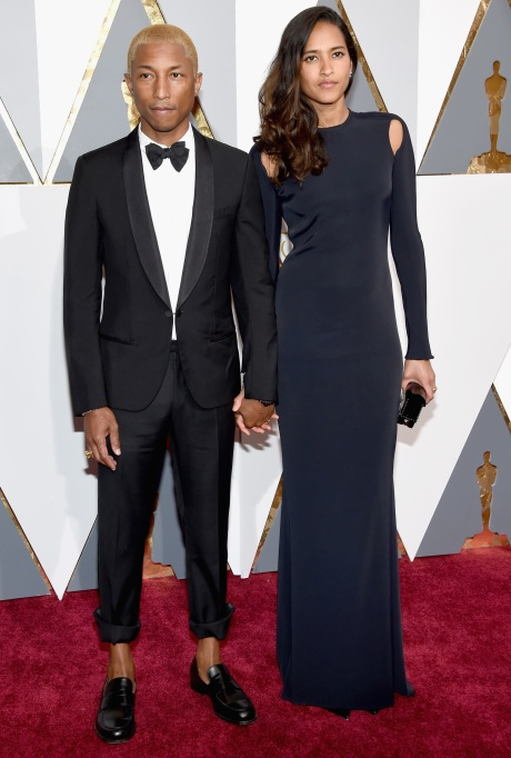 Pharrell Williams & Helen Lasichanh Oscars 2016