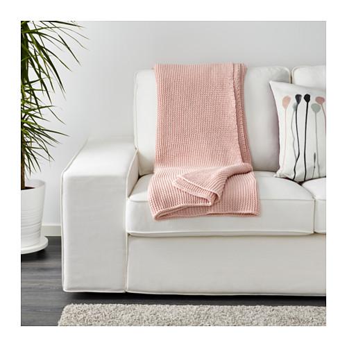 Ingabritta pink Ikea throw