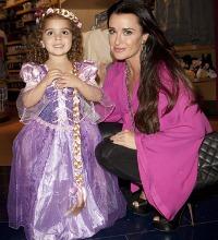 Kyle Richards and daughter - Disney Rapunzel Halloween Costume