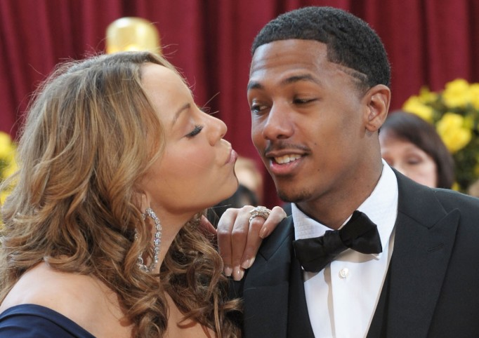Mariah Carey and Nick Cannon at the 82nd Annual Academy Awards