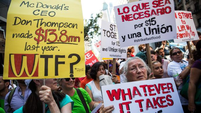 #Strikefastfood protests spread to more than