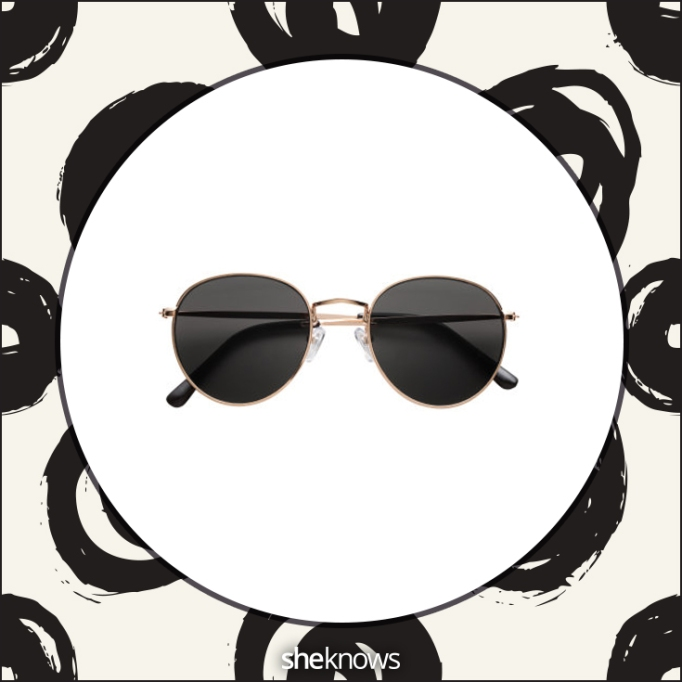 Black round-eyed sunglasses from H&M