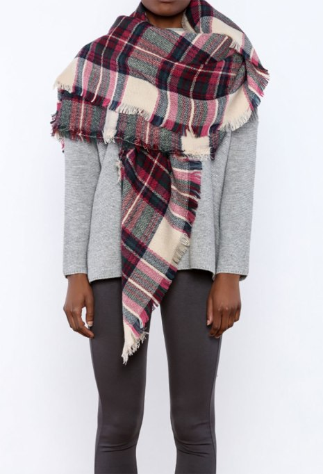 Blanket Scarves to Keep You Cozy This Fall and Winter: Elyse scarf at Shoptiques | Fall and Winter Fashion 2017