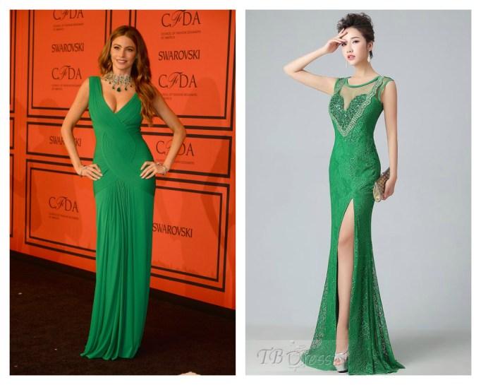 sofia vergara green dress