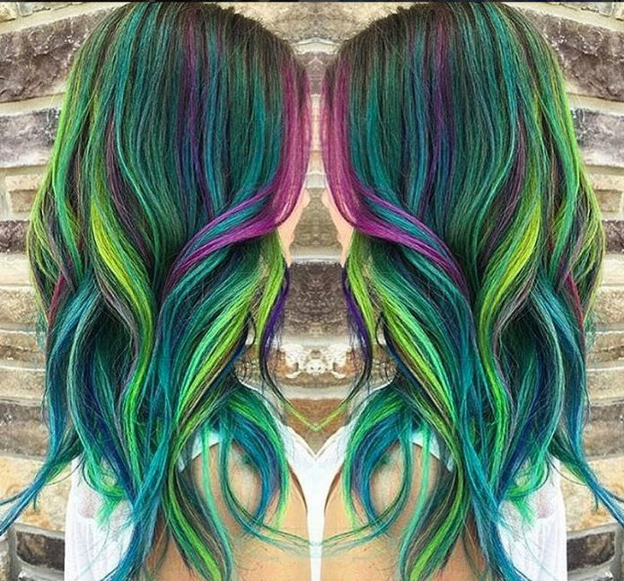 Peacock hair color trend is gorgeous