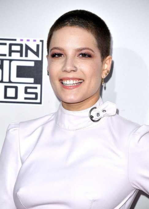 Halsey Buzz Cut