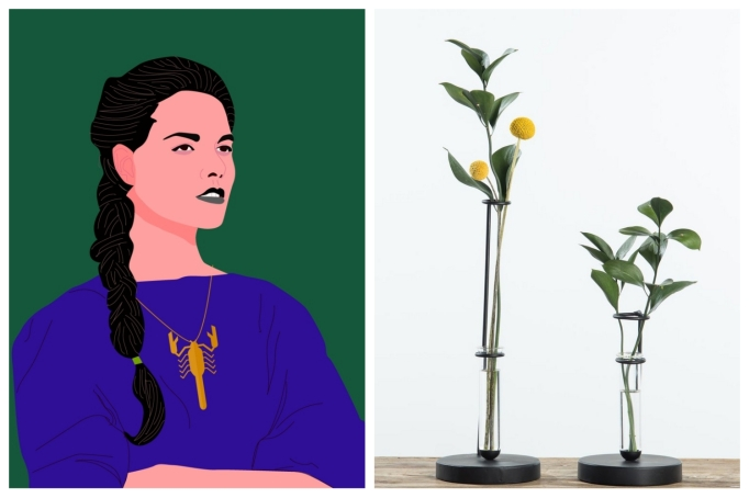 Scorpio: Modern beaker vases