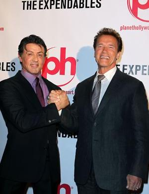Schwarzenegger and Stallone re-unite in an