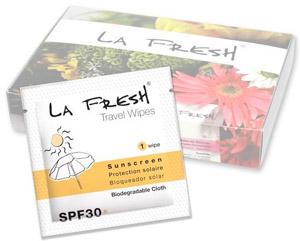 La Fresh SPF 30 Sunscreen Wipes
