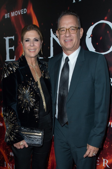 Rita Wilson and Tom Hanks at the 'Inferno' premiere in 2016
