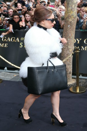 Lady Gaga on the Champs Elysee