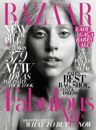 Lady Gaga Covers October's Harper's Bazaar