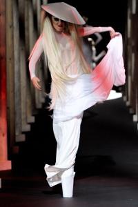Lady Gaga walks the runway