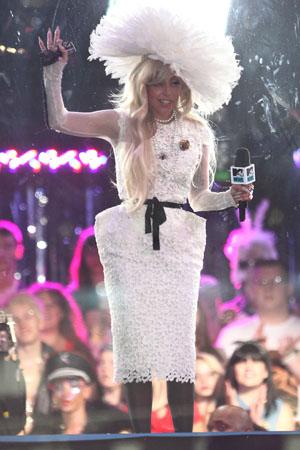 Lady Gaga wears Tom Ford Fall 2011