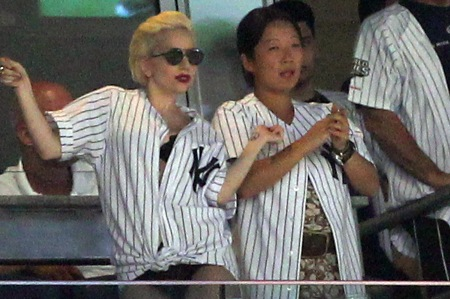 Lady Gaga in Yankees stadium