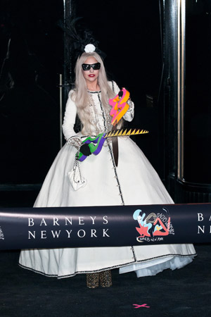 Lady Gaga at Lady Gaga's Workshop opening