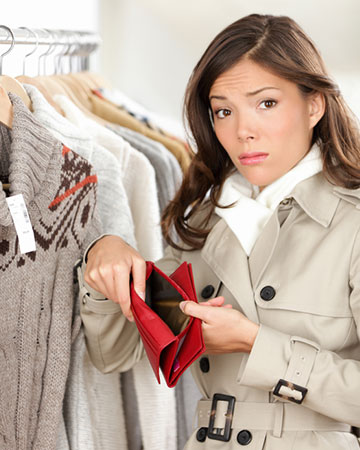 Woman who has spent too much shopping | Sheknows.com