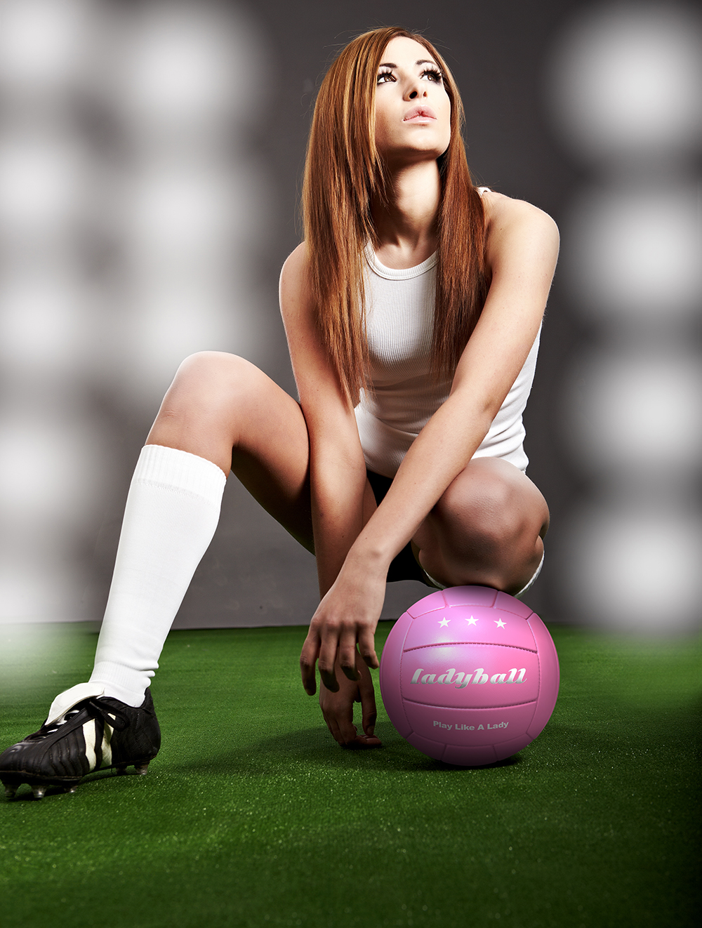Picture of woman with a pink 'ladyball'