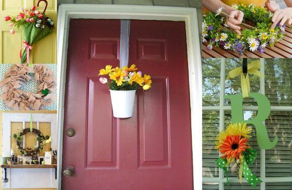Spring door décor