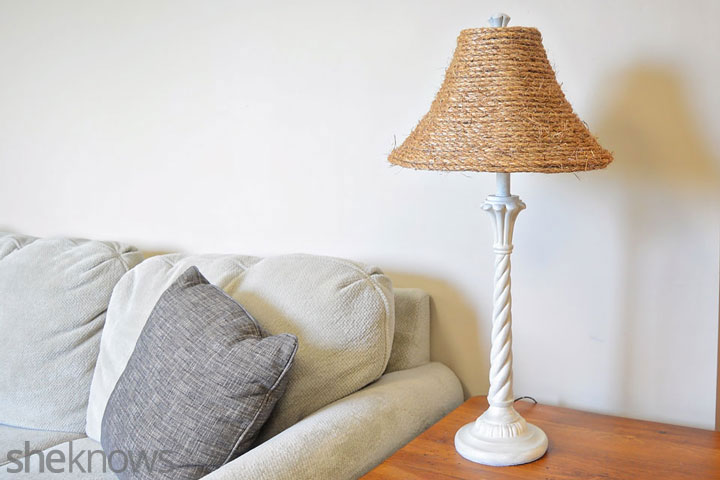 DIY lamp shade transformation