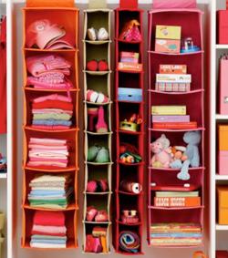 Land of Nod - I Think I Canvas hanging closet storage