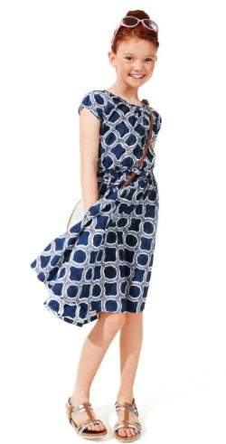 Lands' End navy Easter dress