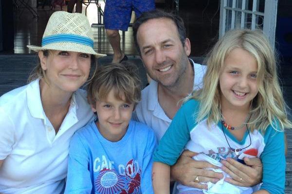 Lara Spencer with family