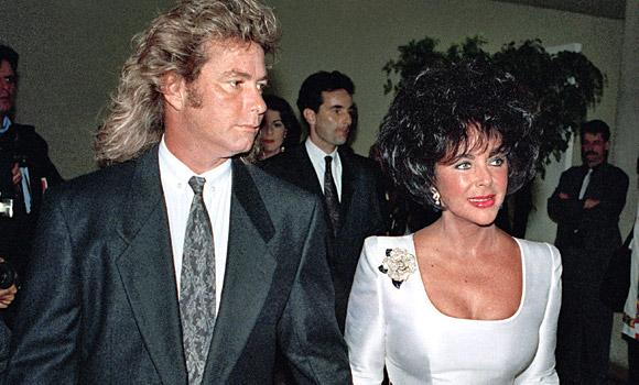 Elizabeth Taylor and husband Larry Fortensky