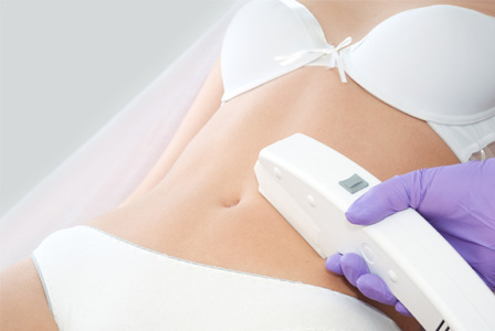 Laser treatment on stomach