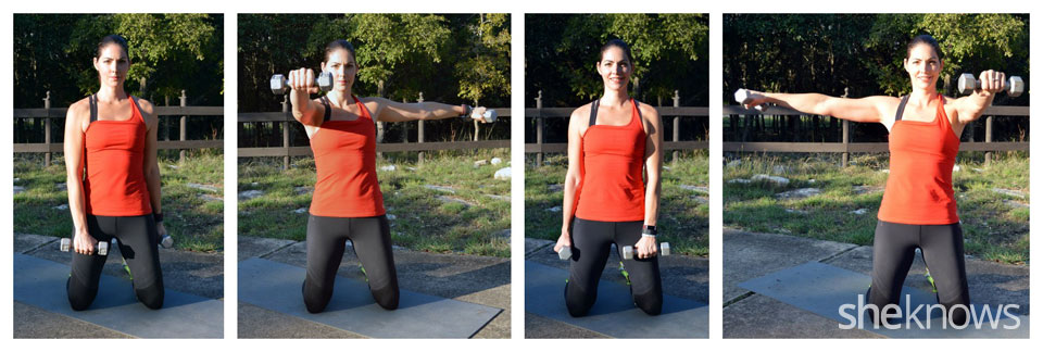 Front and lateral shoulder raise