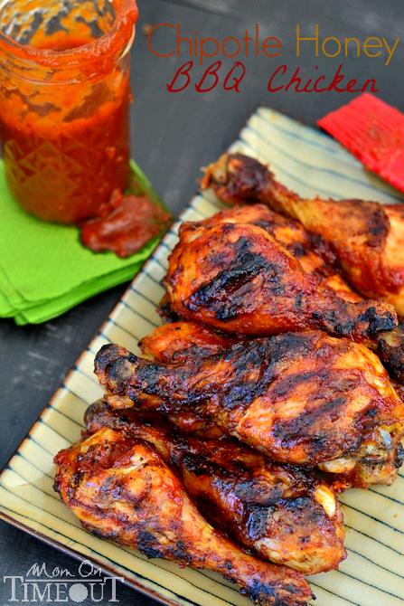 Honey chipotle barbecue chicken