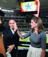 Jenna Bush and Matt Lauer