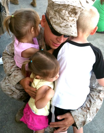 Deployment - saying goodbye to the kids