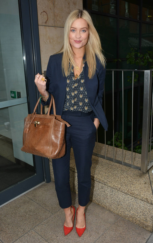 Laura Whitmore wearing fitted blazer