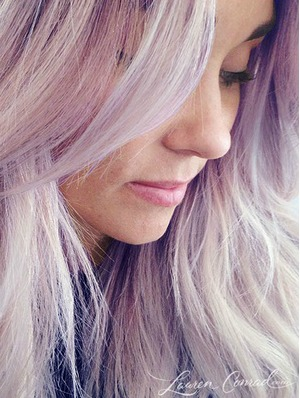 Lauren Conrad dyes her hair lilac after she said she didn't like the trend