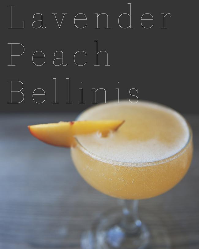 lavender peach bellinis