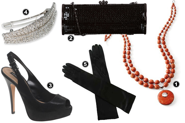 Little black dress accessories