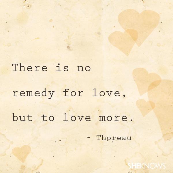 Henry David Thoreau love quote
