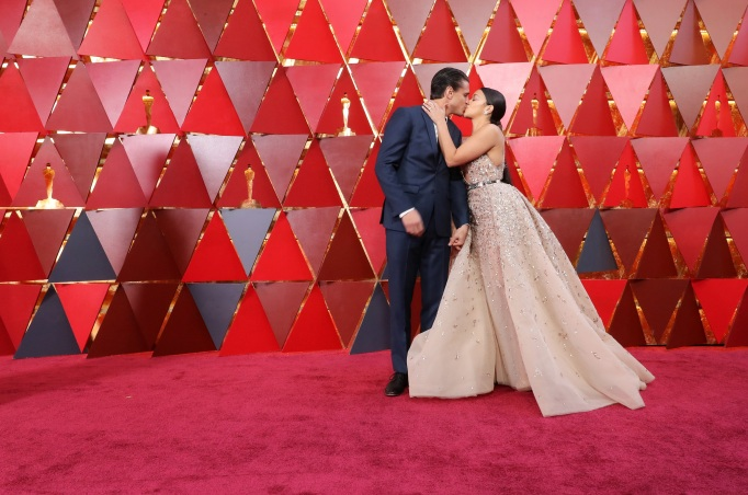 Gina Rodriguez, Joe LoCicero at Oscars 2018