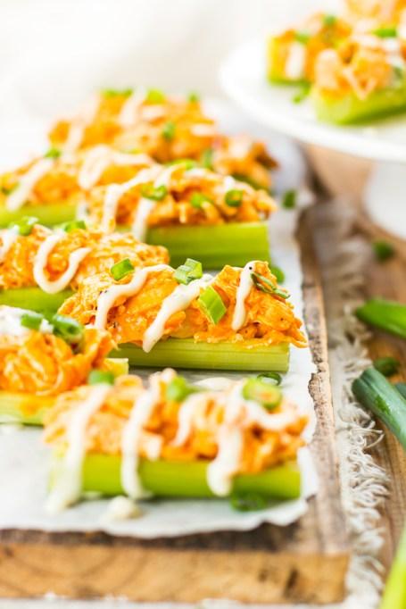 Best Super Bowl Snacks: Buffalo Chicken Celery Sticks