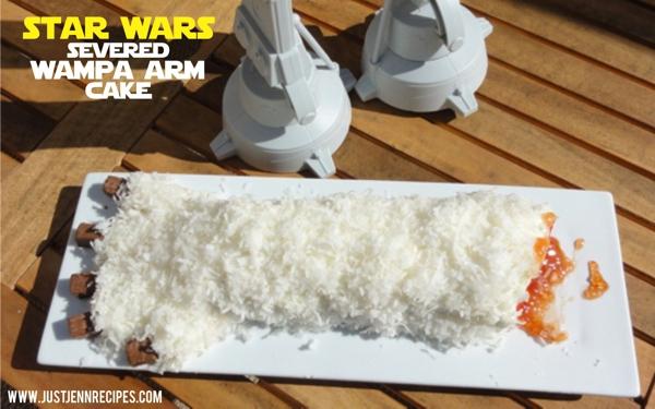 Star Wars severed Wampa arm cake
