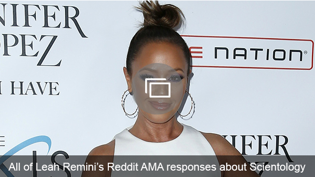 Leah Remini Reddit AMA slideshow