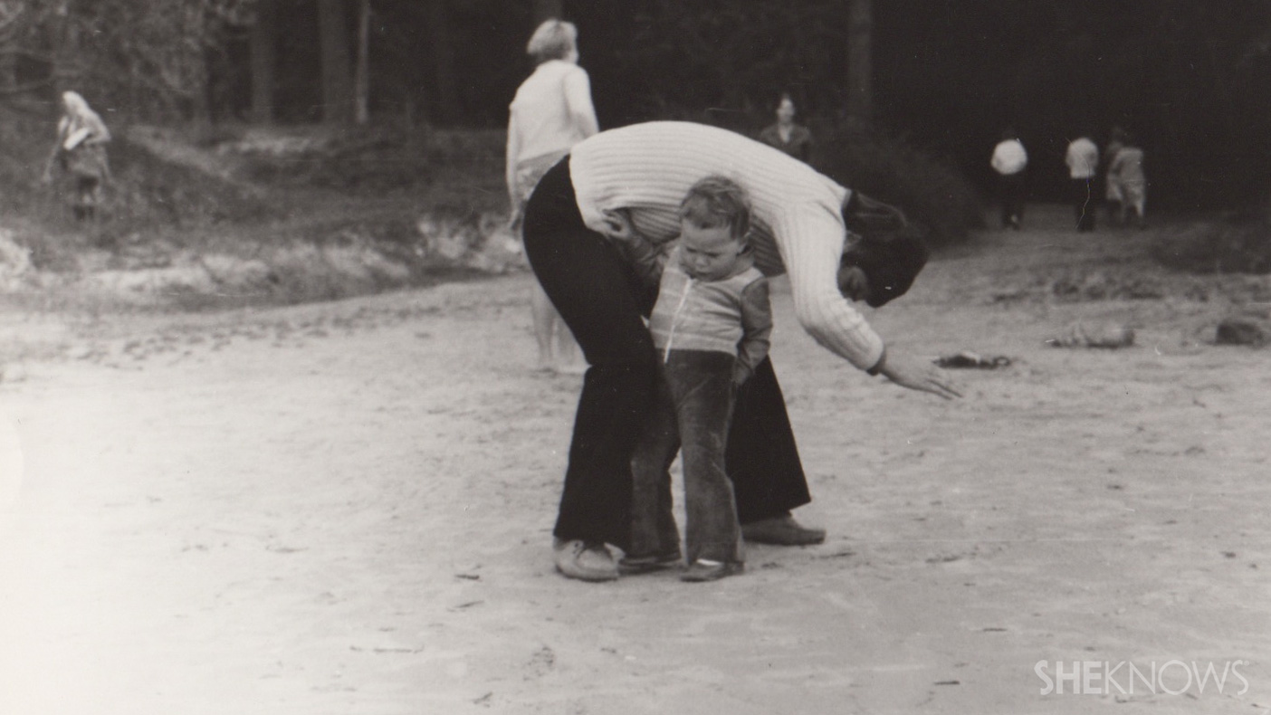 Vintage photo of mother and child