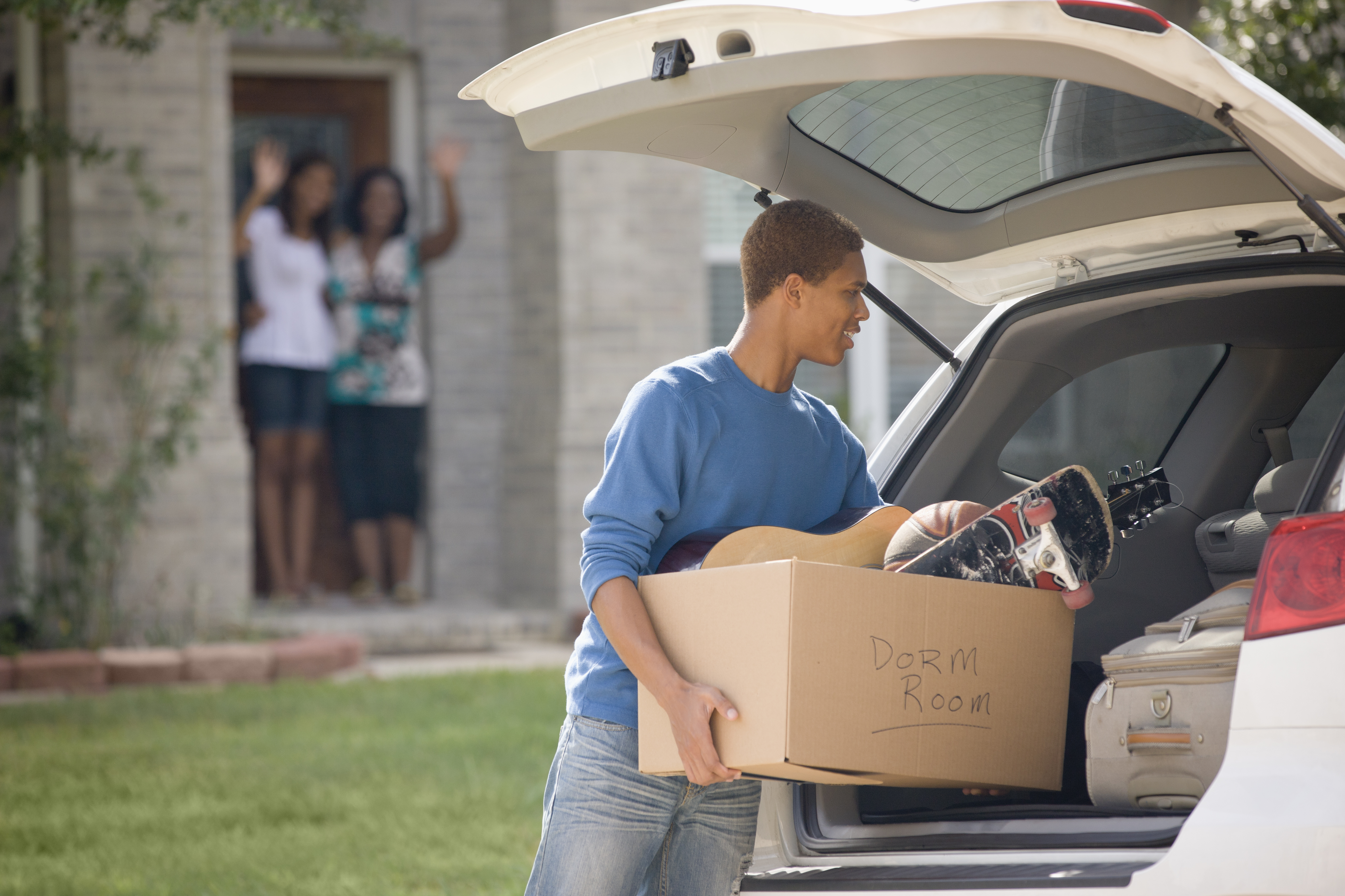 boy leaving for college
