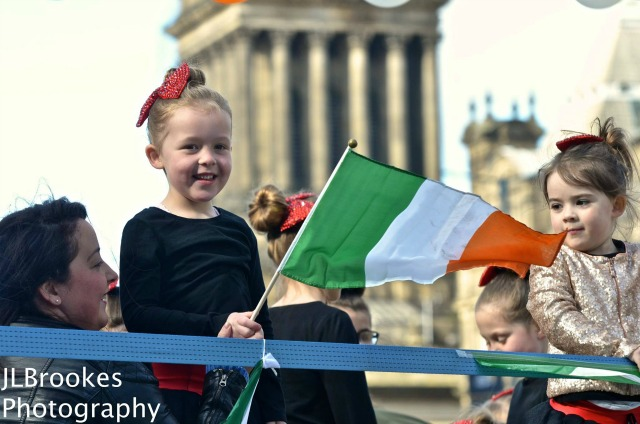 St. Patrick's Day parade in Leeds