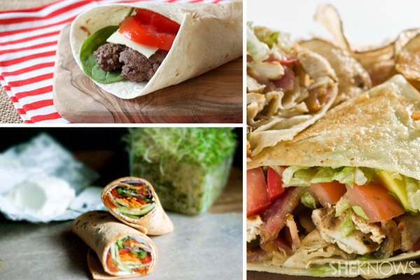 Make wraps out of leftovers