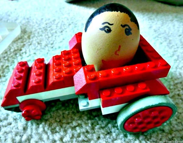 Lego egg racer