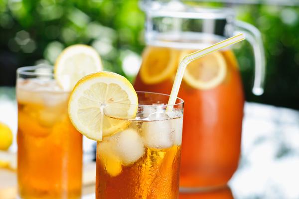 Lemon infused ice tea