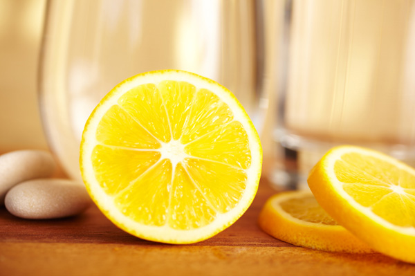 Lemons with water