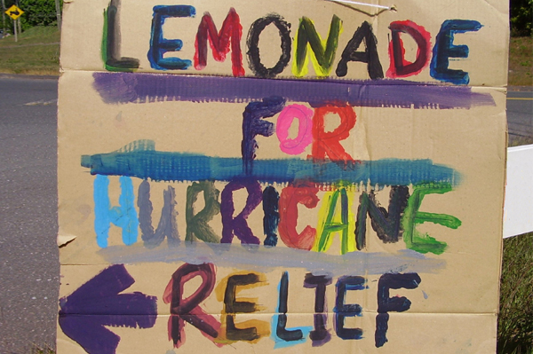Lemonade for huricane relief